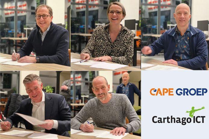 De hoofdrolspelers: Herman Welleweerd (algemeen-directeur Carthago), Nadine Mulder , Rob ter Brugge (algemeen-directeur CAPE Groep), Vincent Stinesen (manager projecten Carthago ICT) en Ruud Mulder (oprichter Carthago).