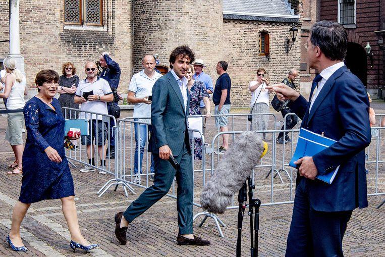 Ruttes afkeer van 'twee keer links' is vooral ingegeven doordat hij zich vastklampt aan CDA-leider Hoekstra die niet wil, klagen de progressieve partijen. Beeld ANP