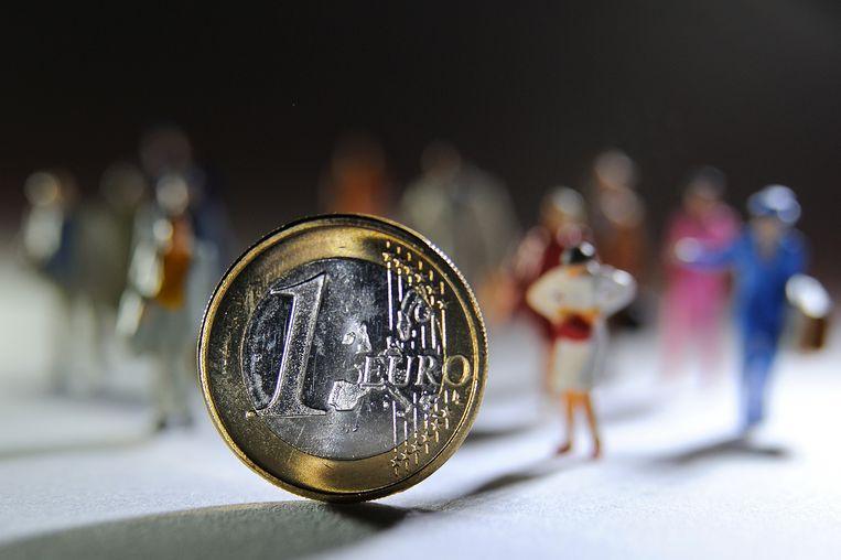 De euro wordt vandaag twintig jaar. Beeld AFP