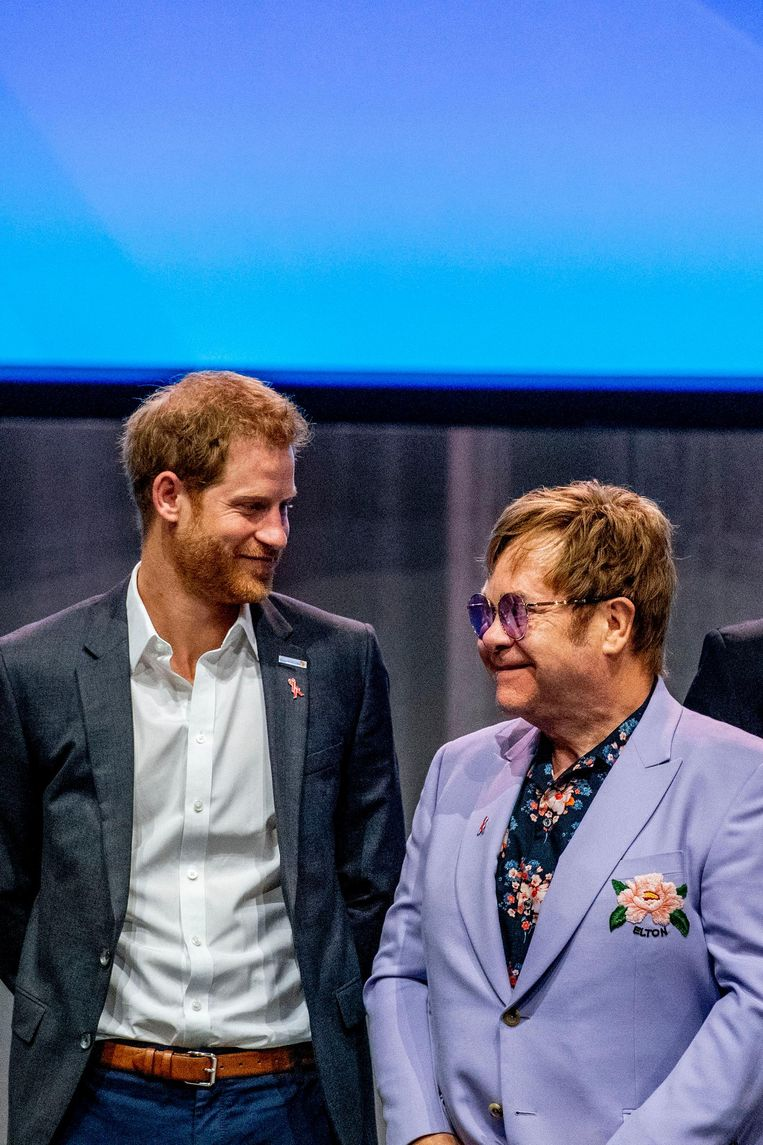 Prince Harry en Elton John. Beeld anp