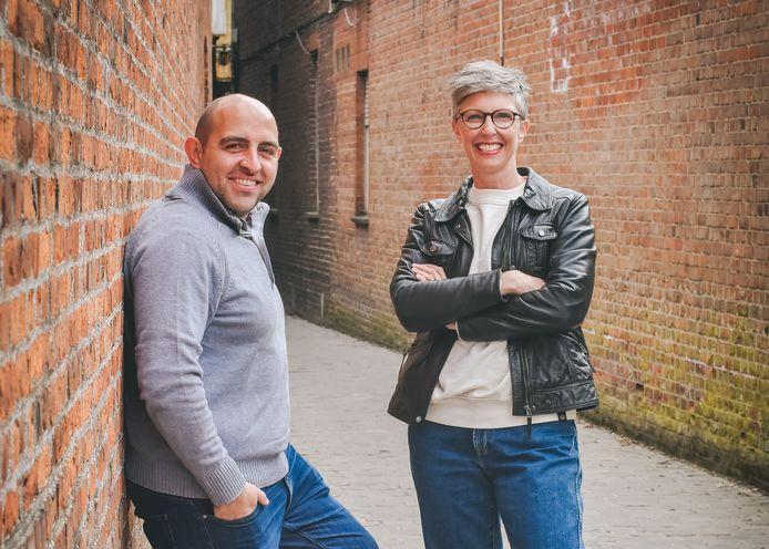 Michael en Leentje, oprichters van het ontmoetingsplatform Singletown.