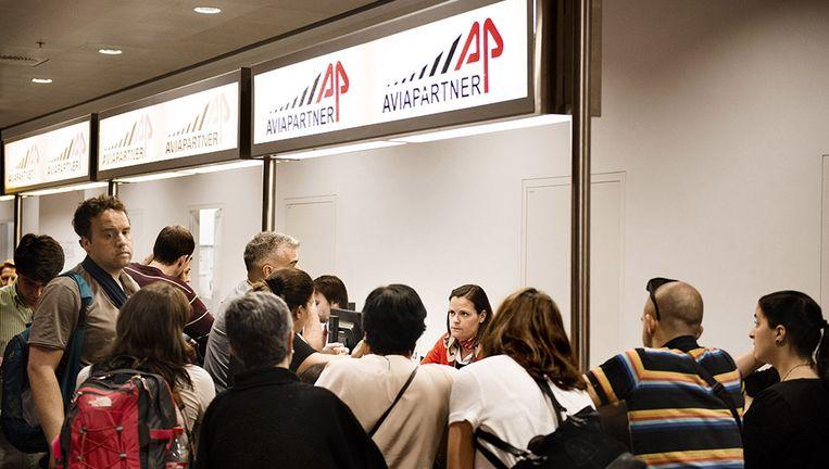 Woensdag werd er gestaakt bij Aviapartner, een bagageafhandelaar in de luchthaven van Zaventem. Beeld Eric De Mildt