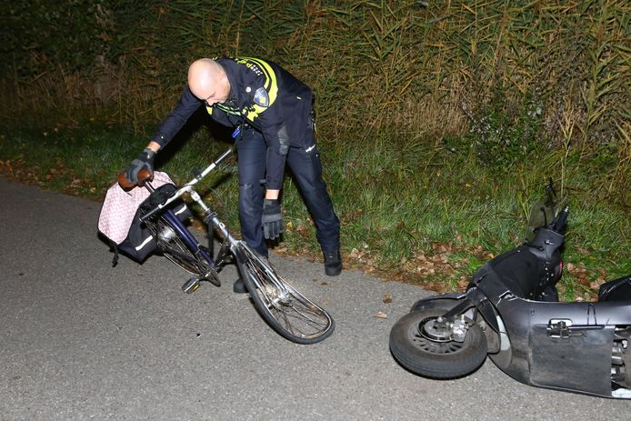 De politie heeft de fiets in beslag genomen.