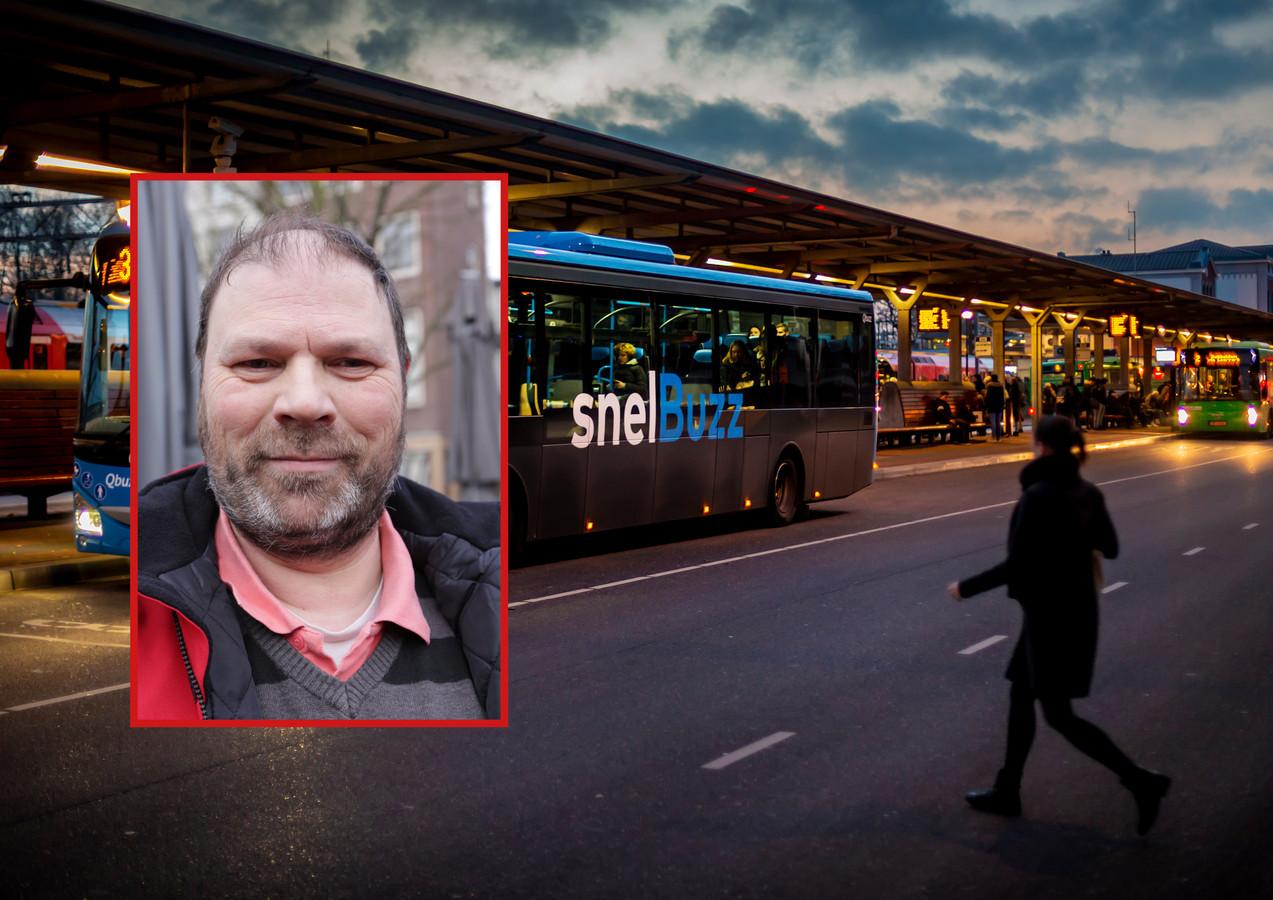Alexander Jansen, buschauffeur en commissielid voor de PvdA Dordrecht, is dinsdagmiddag bedreigd tijdens zijn werk.