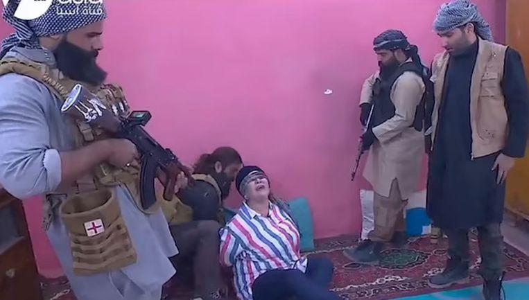 Still uit de Iraakse serie 'Raslan's schietpartij'.  Beeld