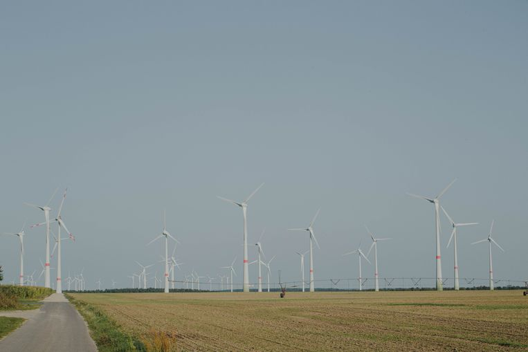 In Feldheim, ten zuiden van Berlijn, is de 'Energiewende' al realiteit: de dorpsbewoners wekken zelf hun energie en warmte op. Beeld Marcus Reichmann