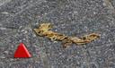 De ketting die op de route van het bloedspoor werd gevonden.