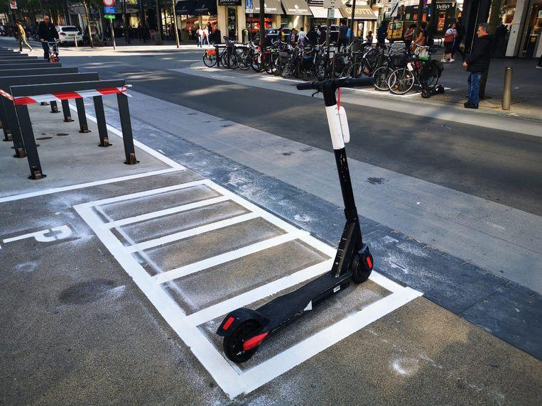 Speciale parkeerplaatsen voor elektrische steps in Antwerpen