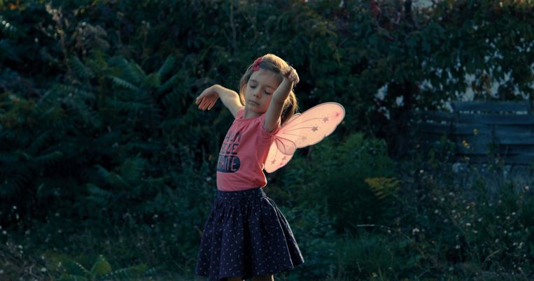 Petit fille Beeld