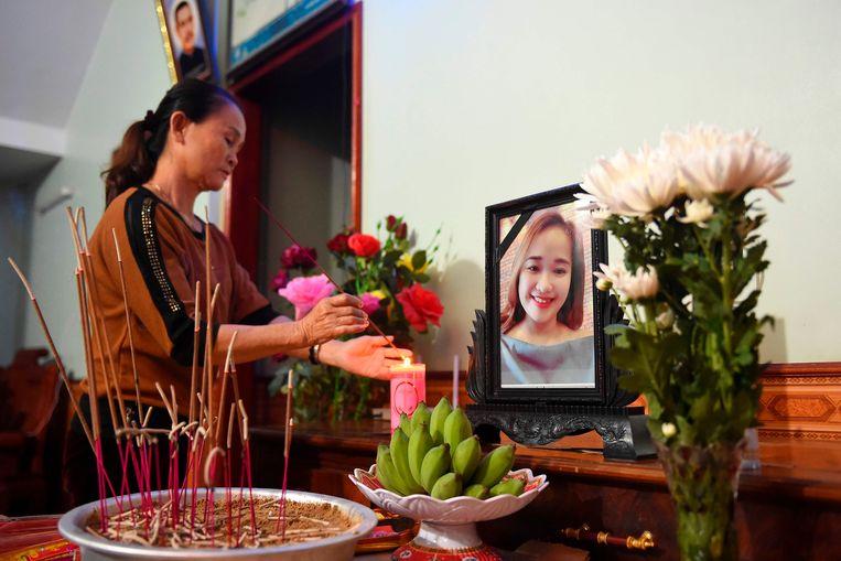 Het vermiste Vietnamese meisje Bui Thi Nhung is mogelijk een van de slachtoffers die werden gevonden in de koelcontainer in Essex. Beeld AFP