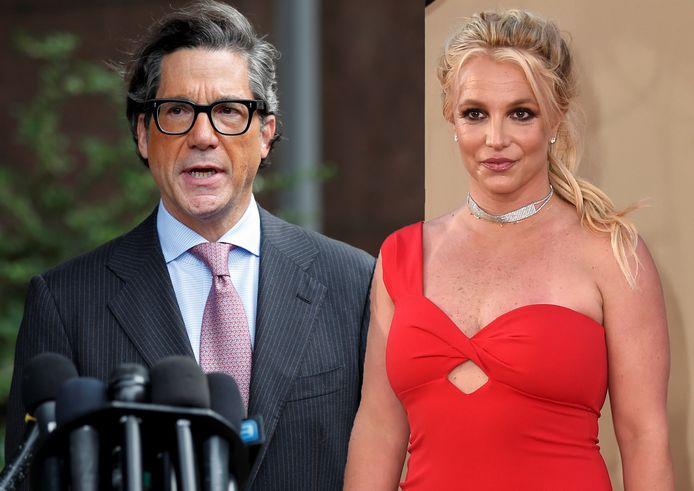 Britney Spears en haar advocaat Mathew Rosengart.
