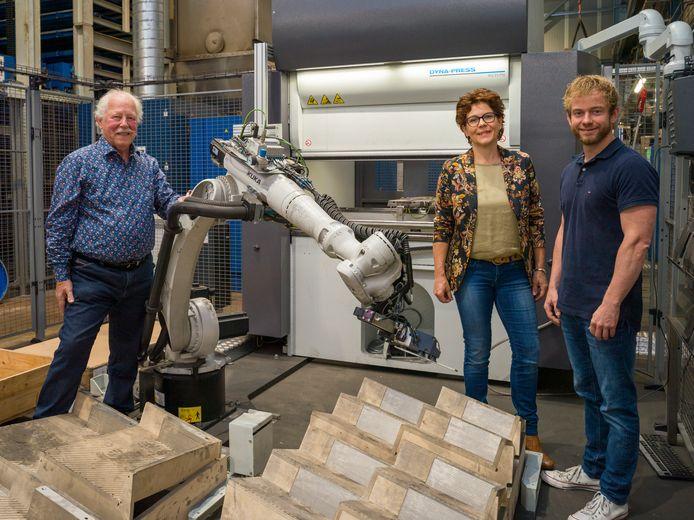 Gerrit, Heleen en Gert Hoekman.
