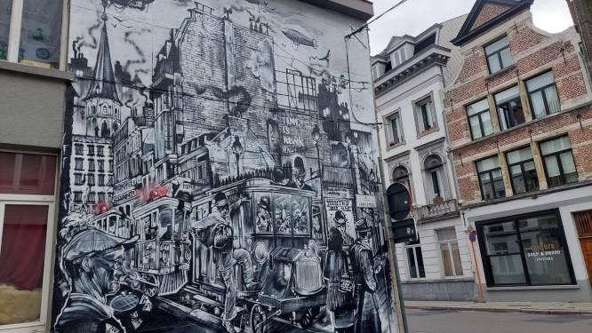 GESPOT: Gigantisch stukje nieuwe street art siert hoek Sint-Jacobsnieuwstraat