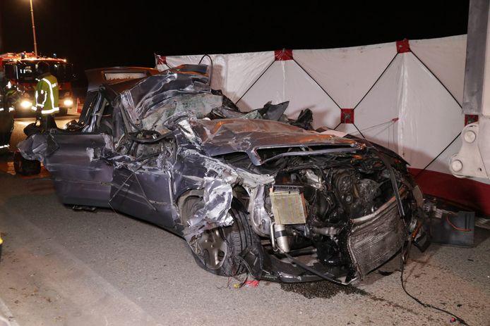 De schade aan het voertuig was enorm
