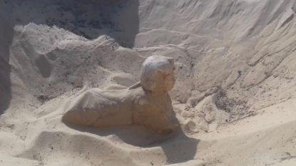 Archeologen vinden minisfinx in uitstekende staat