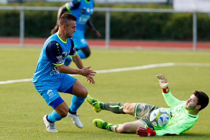 """Joren Dehond: """"Zelf scoorde ik de eerste twee goals op aangeven van Bastien Focant. Tweemaal goed afgewerkt na een mooie combinatie van de ploeg."""""""