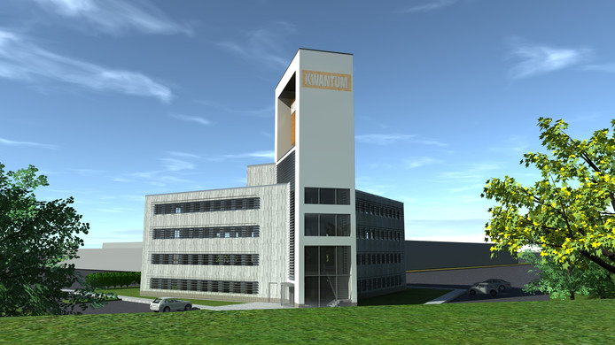 Impressie van het vernieuwde kantoor van Kwantum langs de A58 bij Tilburg.