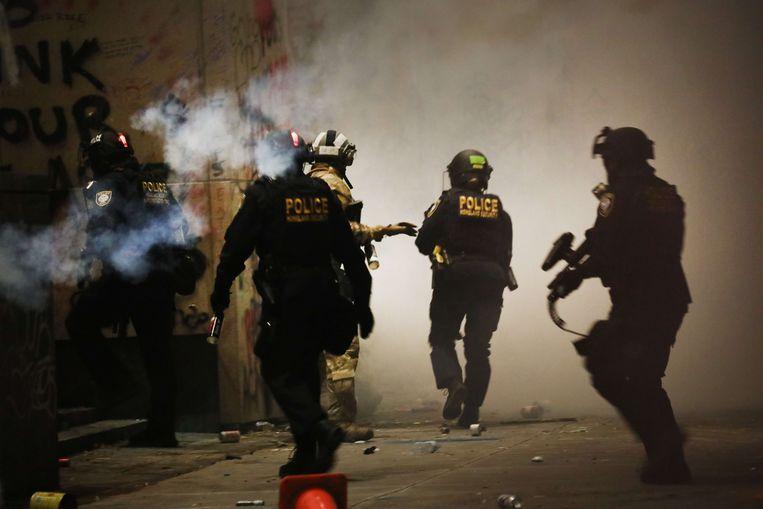 Federale troepen proberen in Portland de rust te herstellen. Beeld AFP