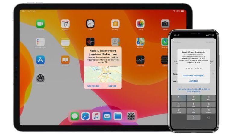 Tweefactor-authenticatie voor Apple ID Beeld Apple