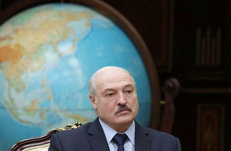 De Wit-Russische president Aleksandr Loekasjenko in Minsk. Beeld via REUTERS