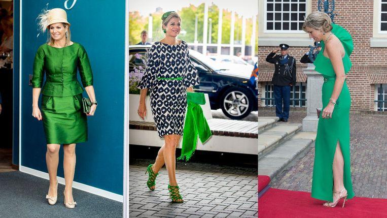 Dé trendkleur van nu is Kermit-groen en koningin Máxima is al jaren fan Beeld Getty Images