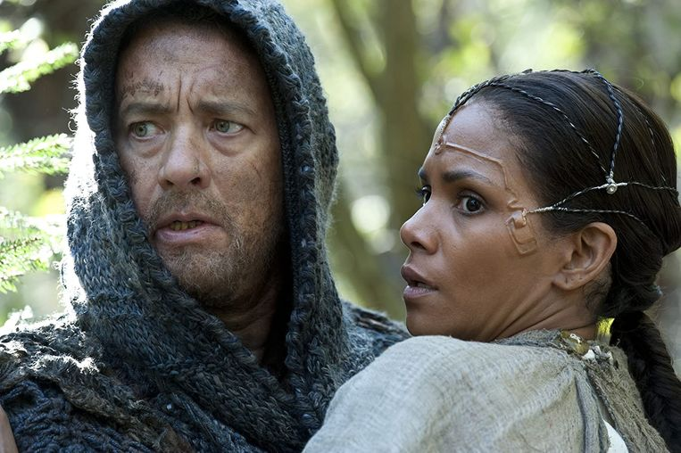 Tom Hanks en Halle Berry in Cloud Atlas van Tom Tykwer en Lana en Lilly Wachowski Beeld