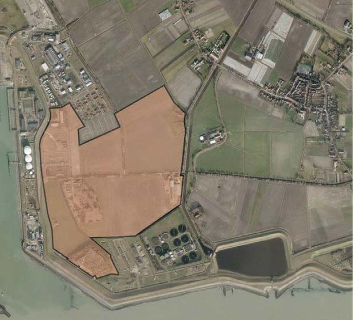 De beoogde locatie voor de marinierskazerne.