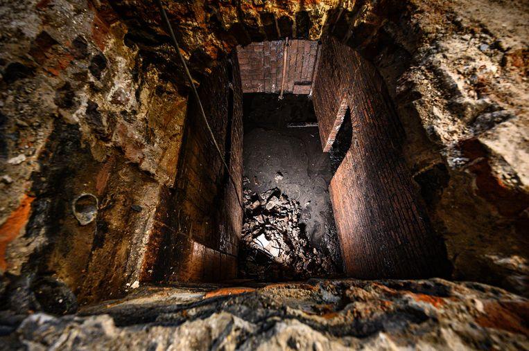 De 3 meter diepe waterkelder.  Beeld Jan Reinier van der Vliet