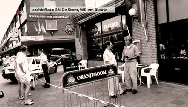Archieffoto van het politieonderzoek bij restaurant Peacock in Breda.