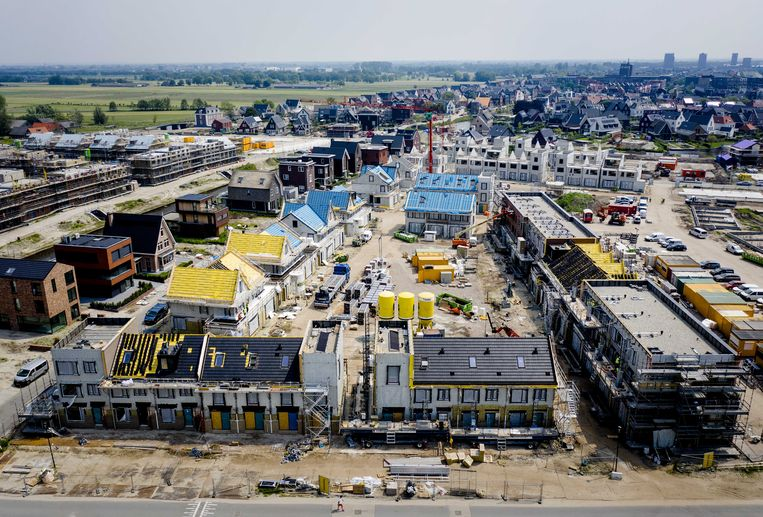 Een nieuwbouwproject in Vathorst. Beeld ANP