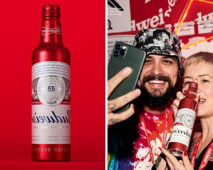 La marque de bière Budweiser surfe sur la tendance du selfie.