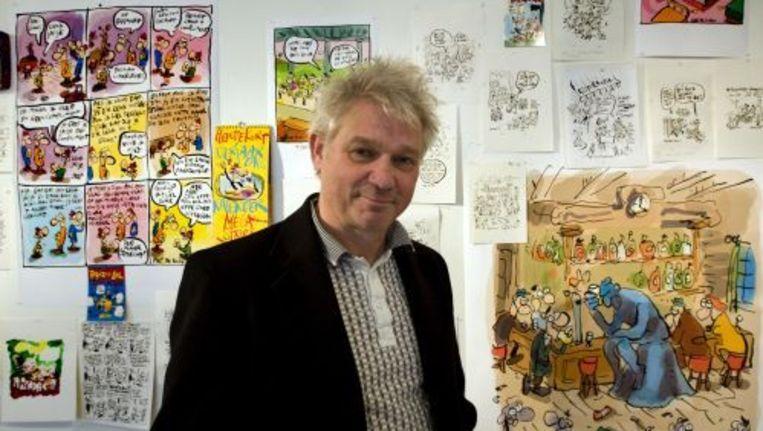 Striptekenaar Hein de Kort zondag in het Museum Jan van der Togt in Amstelveen. Foto ANP Beeld
