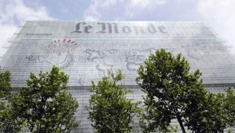 Het hoofdkantoor van Le Monde. Foto AFP Beeld