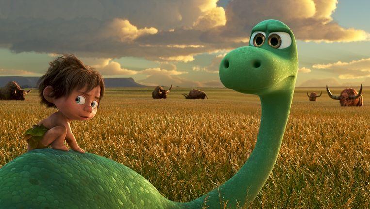 Arlo en Spot in' The Good Dinosaur'. Beeld AP