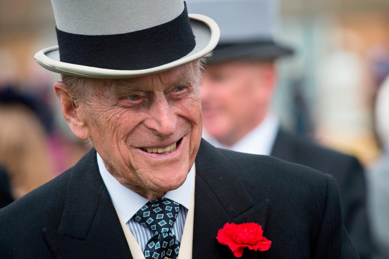 Prins Philip, hertog van Edinburgh, gefotografeerd tijdens een tuinfeest in Buckingham Palace op 16 mei 2017.