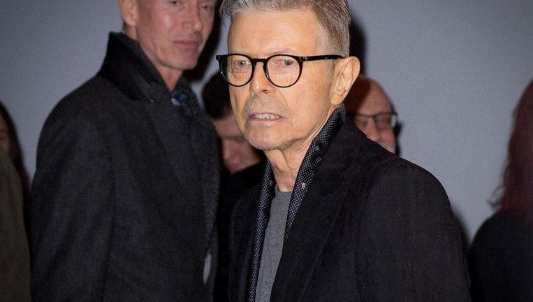 Bowie in december 2015 na de wereldpremière van Lazarus in New York Beeld ANP