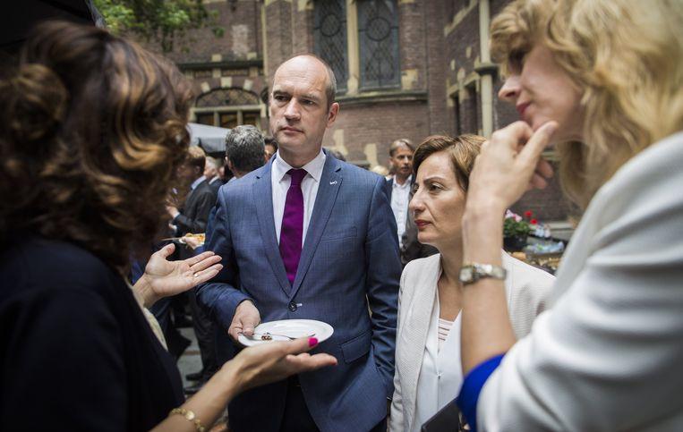 Kamerleden Van Miltenburg (VVD), Segers (ChristenUnie), Yücel (PvdA) en Keijzer (CDA). Beeld Freek van den Bergh