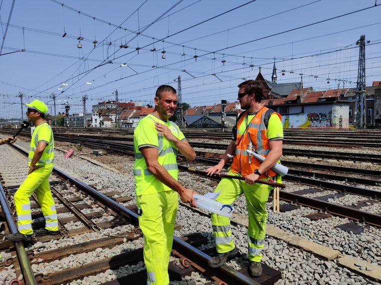 Vorige week klonken ook al heel wat verzuchtingen, toen de hitte heel wat problemen opleverde voor het treinverkeer. Beeld BELGAONTHESPOT