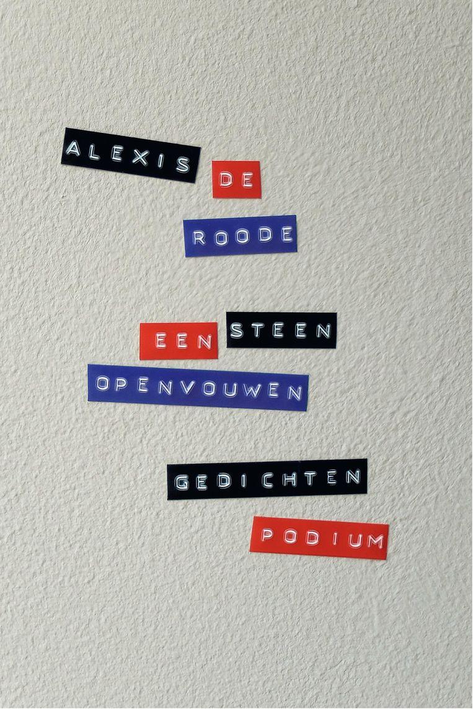'Een steen openvouwen' van Alexis de Roode Beeld RV