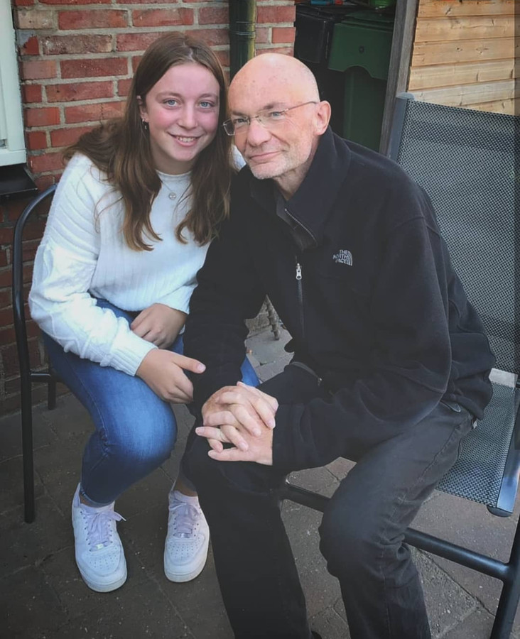 Lotte en haar vader Kees Ketting.