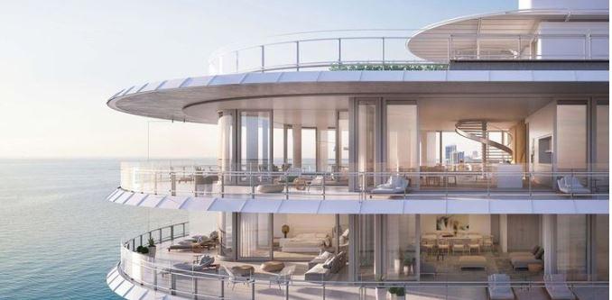 De flat van Djokovic in Miami.