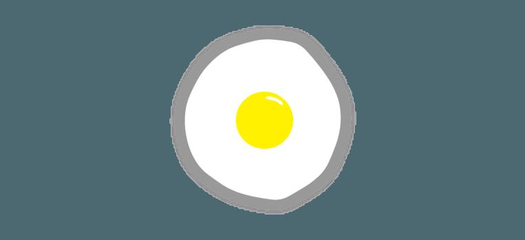 Het gebakken ei ('Flyingfrying') van Rafaël Rozendaal Beeld Rafaël Rozendaal