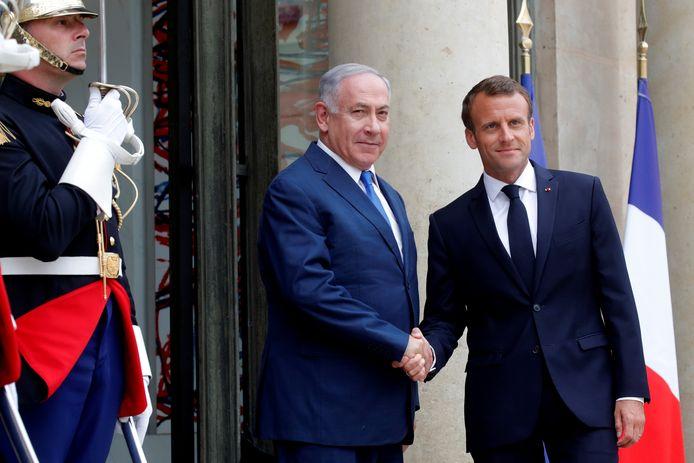 Le Premier ministre israélien Benjamin Netanyahu et Emmanuel Macron à l'Élysée (archives, juin 2018)