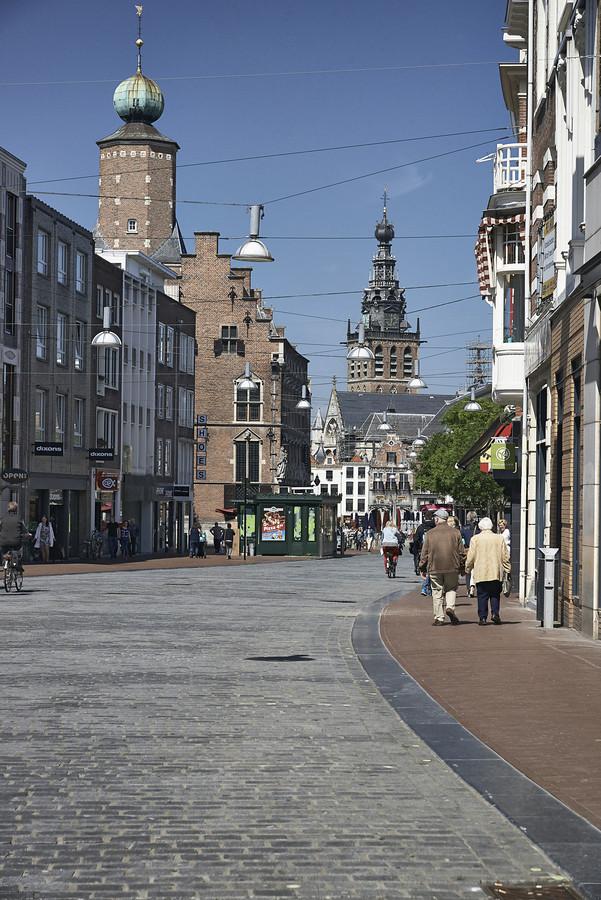 Het centrum van Nijmegen, waar de AH-medewerkers onlangs de Crazy 88-opdrachten uitvoerden.
