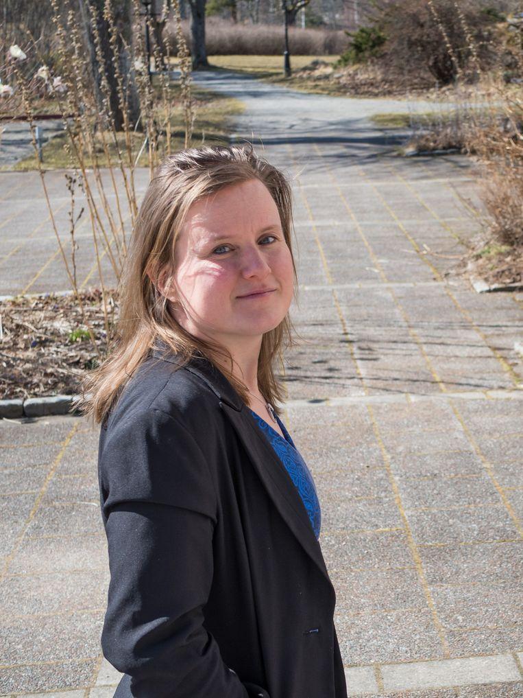 Nele Brusselaers doceert klinische epidemiologie aan het Karolinska Institutet. 'Ik ben een gevaar voor de samenleving genoemd.' Beeld Nele Brusselaers
