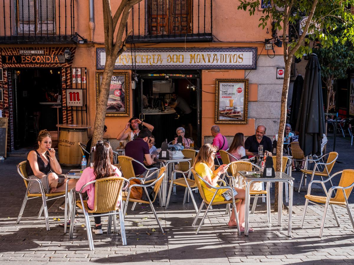 La Latina, beroemd om zijn terrasjes en tapas