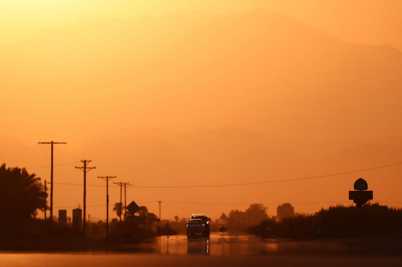 Thermal, in de Amerikaanse staat Californië, kreunt onder de hitte.