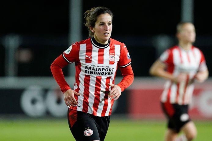 Georgina Carreras tijdens PSV-Ajax in de eredivisie cup (2-2).