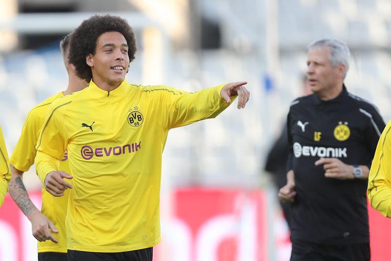 Axel Witsel neemt het met Dortmund op tegen Club Brugge. Beeld BELGA