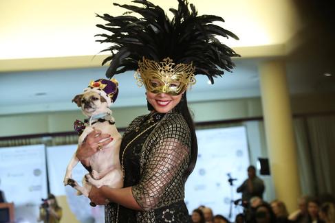 Foto van Honden op de catwalk